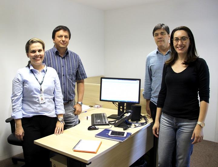 Equipe do NIT/Unifesp juntamento com Victor Prado (UFSCar)