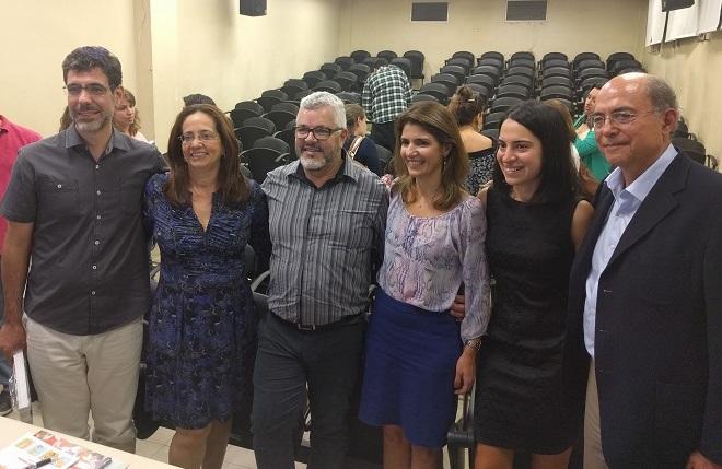 Da esquerda para a direita: Daniel Domingues dos Santos, Maria Conceição do Rosário, Luciano Gamez, Ana Estela Haddad, Suna Hanoz e James Leckman