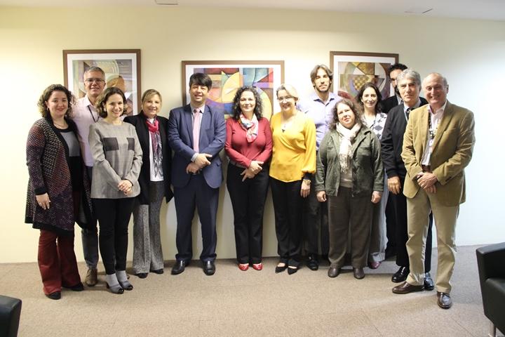 Equipe da Reitoria da Unifesp reunida com o secretário de Educação Superior (Sesu/MEC), Arnaldo Barbosa de Lima Junior