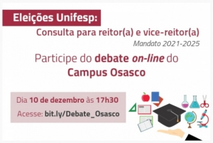 Campus Osasco promove debate entre as chapas que concorrem à Reitoria da Unifesp