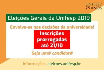 Prorrogadas até segunda as inscrições para os conselhos, congregações e comissões da Unifesp