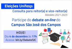 ICT/Unifesp promove debate com as chapas que concorrem à Reitoria da Unifesp